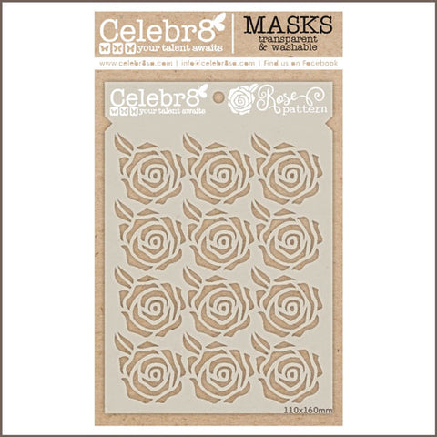 Celebr8 - Stencil Mask Template - Rose Pattern SM4607