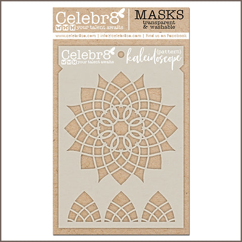 Celebr8 - Stencil Mask Template - Captured Memories - Kaleidoscope SM4623