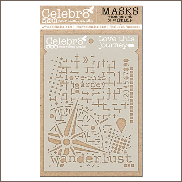 Celebr8 - Stencil Mask Template - Captured Memories - Love this Journey SM4624