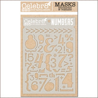 Celebr8 - Stencil Mask Template - Working Man - Numbers SM4627