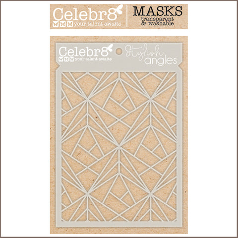Celebr8 - Stencil Mask Template - A Formal Affair - Stylish Angles SM4630