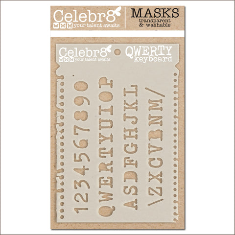 Celebr8 - Stencil Mask Template -  Our Story - Qwerty Keyboard (SM4631)