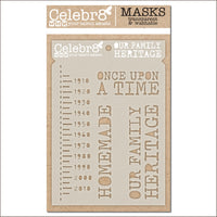 Celebr8 - Stencil Mask Template -  Our Story - Our Family Heritage (SM4632)