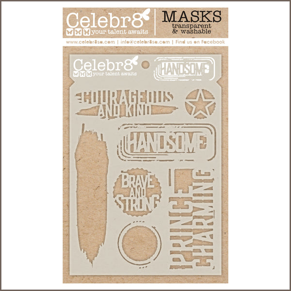 Celebr8 - Stencil Mask Template -  Our Story - Handsome (SM4633)
