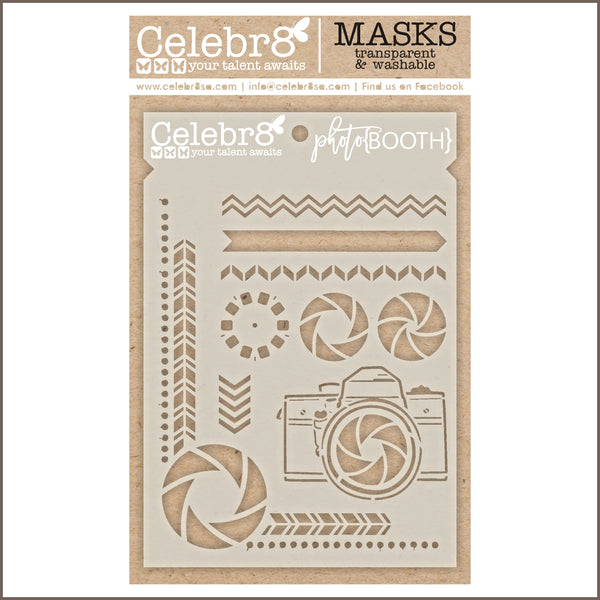 Celebr8 Stencil Mask Template - Photobooth - Photobooth SM4636