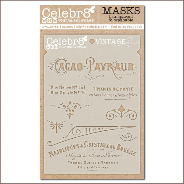 Celebr8 - Stencil Mask Template -  Loving You - Vintage Affair (SM4638)
