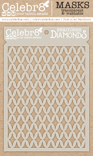 Celebr8 - Stencil Mask Template - Chasing Adventure - Seamless Diamonds SM4640