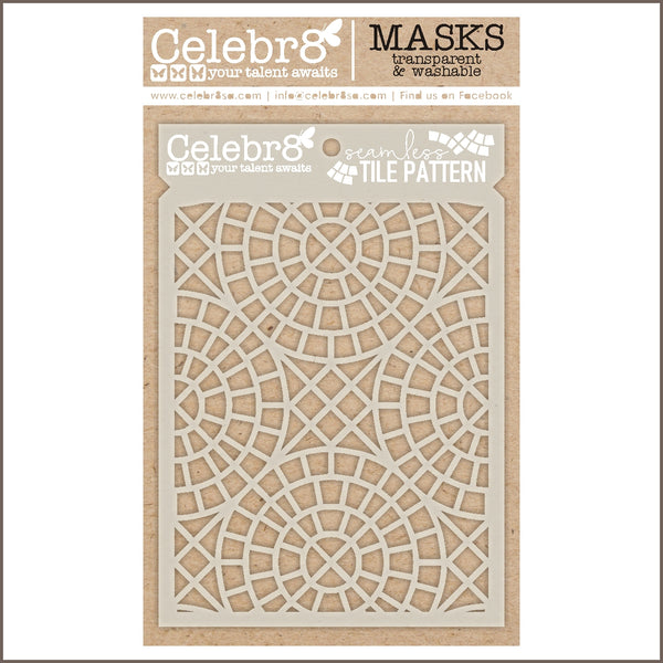 Celebr8 - Stencil Mask Template - Seamless Tiles SM4641