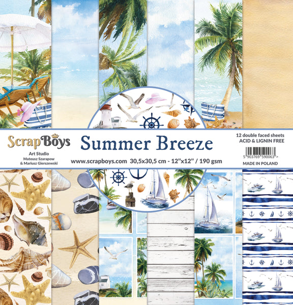 Pre-Order ScrapBoys - Summer Breeze - 12 x 12 Paper Pack (Subr-08)