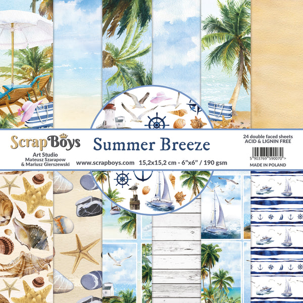 Pre-Order ScrapBoys - Summer Breeze - 6x6 Paper Pack (Subr-09)