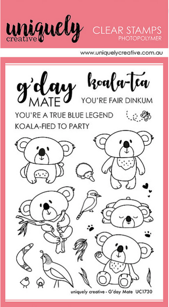 Uniquely Creative - Clear Stamp - G'day Mate (UC1730)