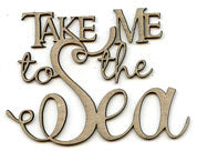 Scrap FX - Chipboard Embellishment - Take me to the Sea  (2018301)