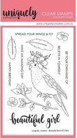Uniquely Creative - Clear Stamp - Beautiful Bird (UC1765)