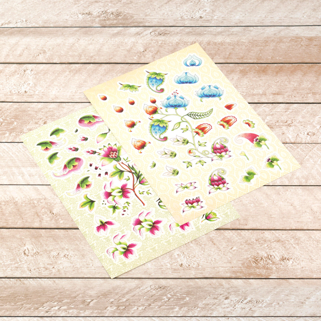 Ultimate Crafts - Diecut Decoupage Set - Bohemian Bouquet - (ULT158042)