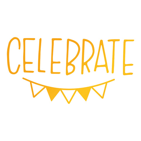Ultimate Crafts - Hot Foil Stamp - Celebrate Bunting - (ULT158102)