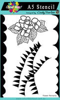 Colour Blast Aim High A5 Stencil - Flower Pennants CBP0051 (Designed by Cindy Porter)