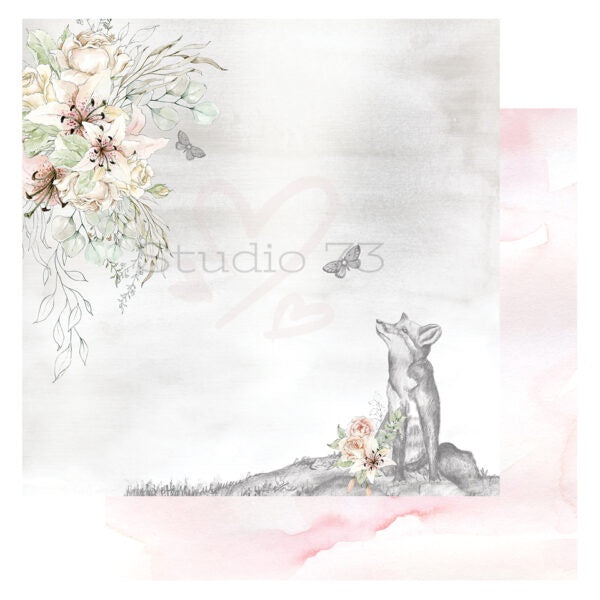 Studio 73 A Sketchers Journal - Foxes View 12x12 d/s Patterned Paper 557354