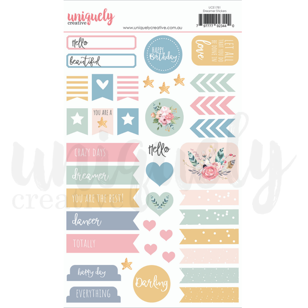 Uniquely Creative - Dreamer Collection -  Stickers  UCE1781