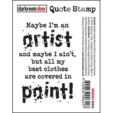 Darkroom Door Quote Stamp - Artist (DDQS025)