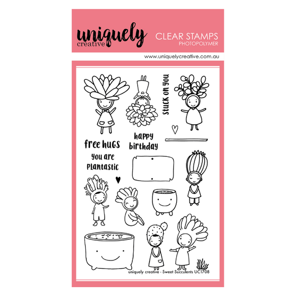 Uniquely Creative - Clear Stamp -Sweet Succulents UC1708