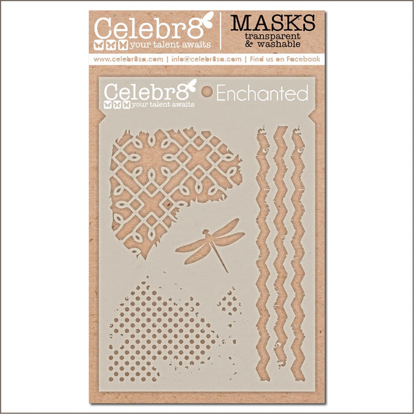 Celebr8 - Stencil Mask Template -  Enchanted  (SM4651)