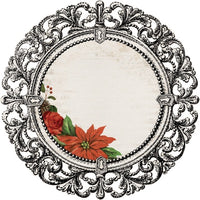 Kaisercraft Letters to Santa Poinsettia Frame Diecut Patterned Paper PS500