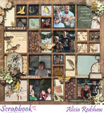 "Kaisercraft - Anthology - 12x12"" Scrapbook Paper -  Plumology - (P2543)"