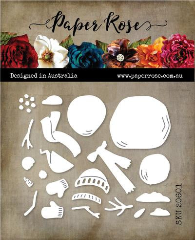 Paper Rose Cutting Die Snowman Builder 20601