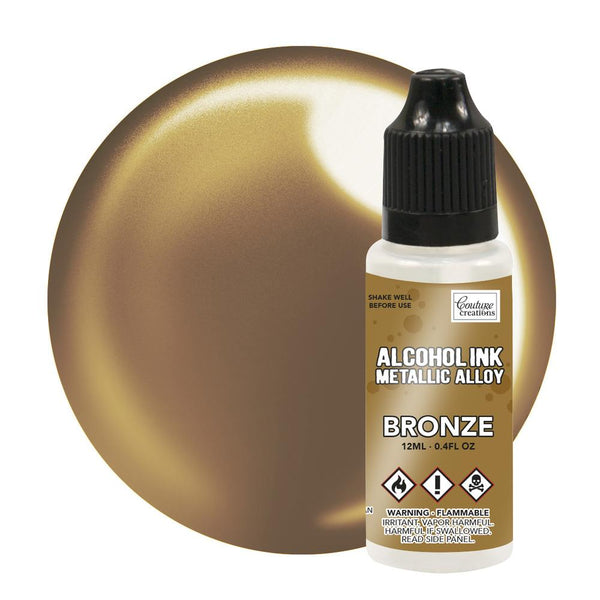Couture Creations 12ml Bronze Metallic Alloy Alcohol Ink CO727880