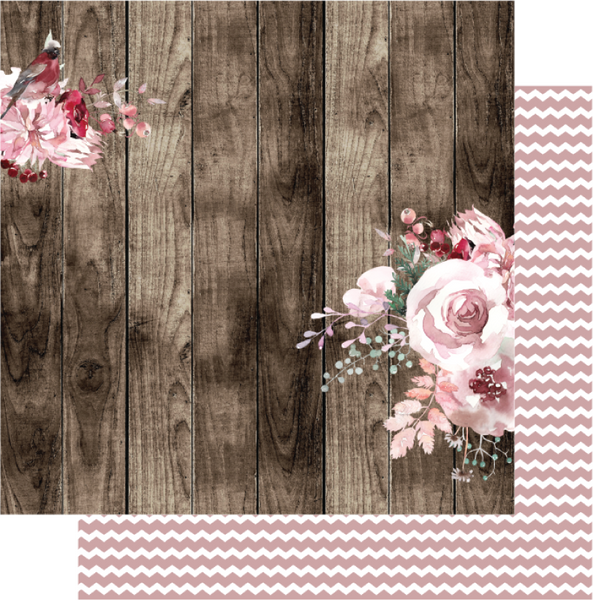 Uniquely Creative - Winter Rose Collection -  Wren Paper  UCP2054