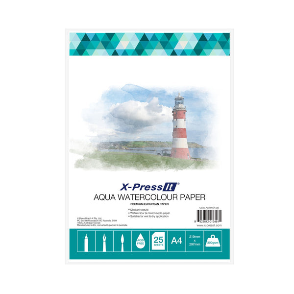 A4 Watercolour Paper 300gsm (25 pack) AWP300A425