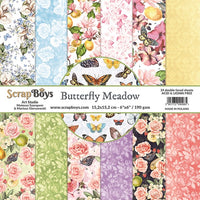 Pre-Order ScrapBoys - Butterfly Meadow - 6x6 Paper Pack (Bume-09)