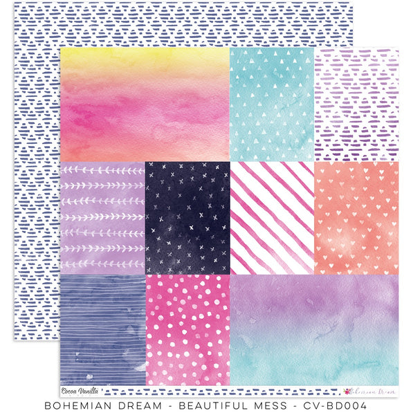 Cocoa Vanilla Studio Bohemian Dream Beautiful Mess Patterned Paper CV-BD004