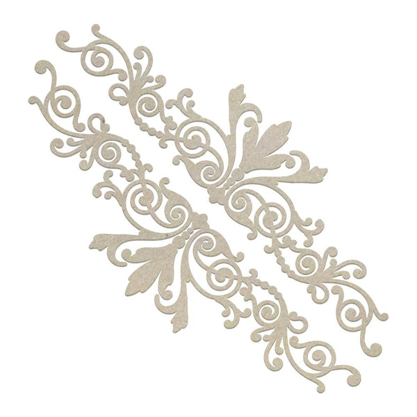 Couture Creations - Gentleman's Emporium - Gentleman's Borders Chipboard Set (2 piece) (CO726868)