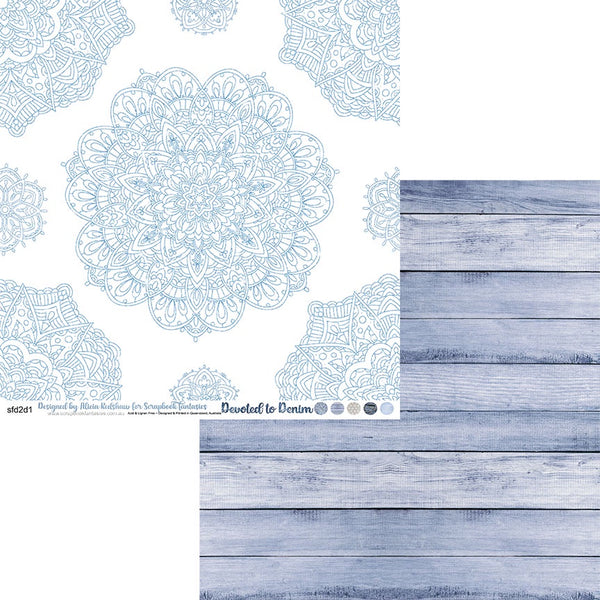 Devoted to Denim 12x12 Double-Sided Patterned Paper 1