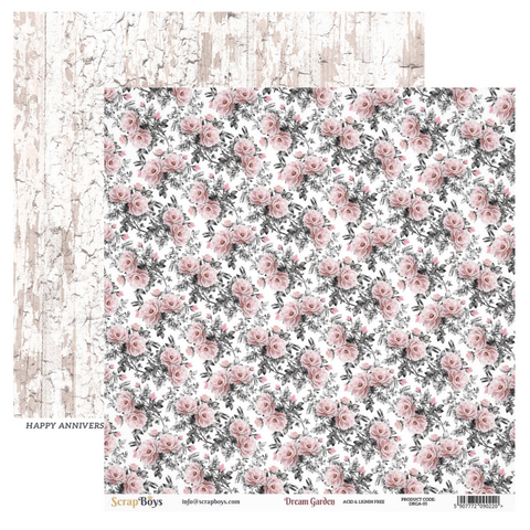 Scrap Boys - Dream Garden - 12 x 12 Pattern Paper (Drga-05)