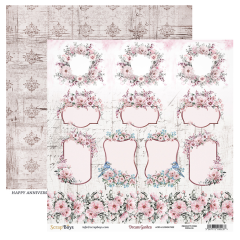 Scrap Boys - Dream Garden - 12 x 12 Pattern Paper (Drga-06)