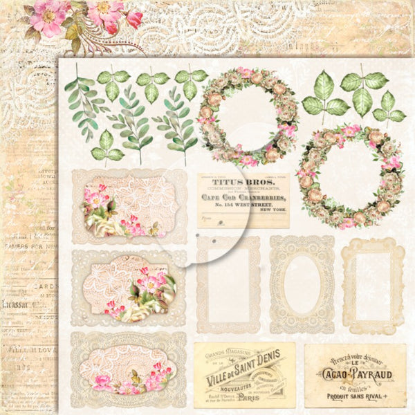 LemonCraft - House of Roses 2 12 x 12 Scrapbook Paper Extra 02