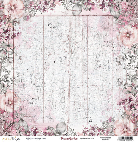 Scrap Boys - Dream Garden - 12 x 12 Pattern Paper (Drga-02)