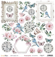Pre-Order ScrapBoys - Dream Garden - 12x12 Pattern Paper with Cut outs (Drga-07)
