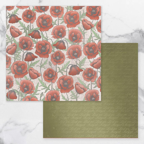 Couture Creations Lest We Forget Double Sided Patterned Paper 7 CO727706