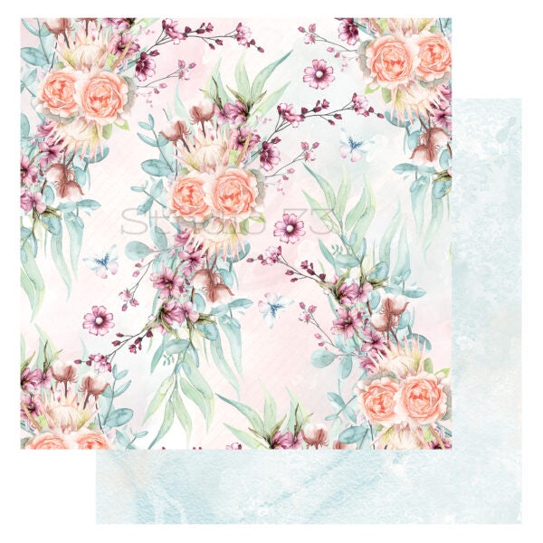 Studio 73 A Touch of Spring - Spring Bouquet  12x12 d/s Patterned Paper 557324