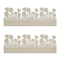 Couture Creations Lest We Forget Chipboard Poppy Borders Set (2pc) CO727705