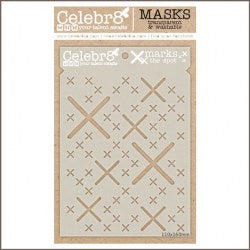 Celebr8 - Stencil Mask Template - X Marks the Spot SM4603