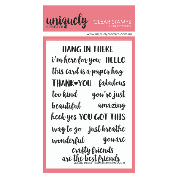 Uniquely Creative - Clear Stamp - Essential Sentiments (UC1711)