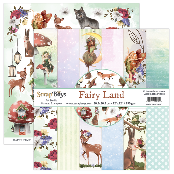 ScrapBoys - Fairy Land - 12x12 Patterned Paper Pack (FALA-08)