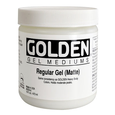 Golden Gel Mediums - Regular Gel (Matte) 473ml