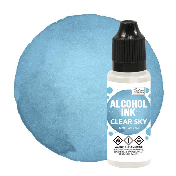 Couture Creations 12ml Aqua/Clear Sky Alcohol Ink CO727299