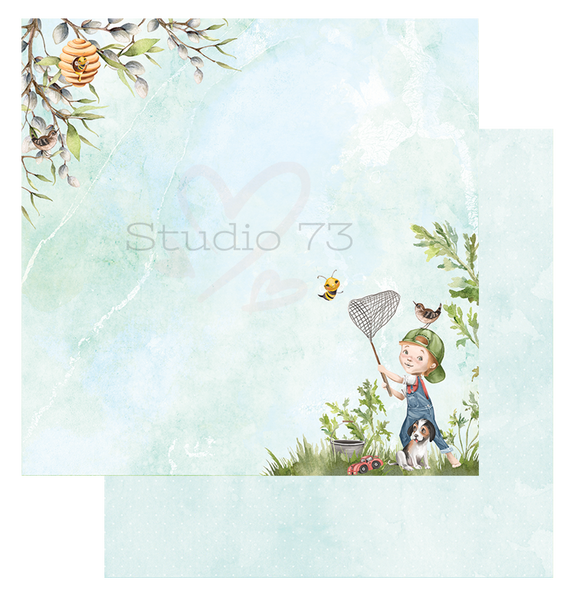 Studio 73 About A Boy It's A Boy Thing 12x12 d/s Patterned Paper 557312