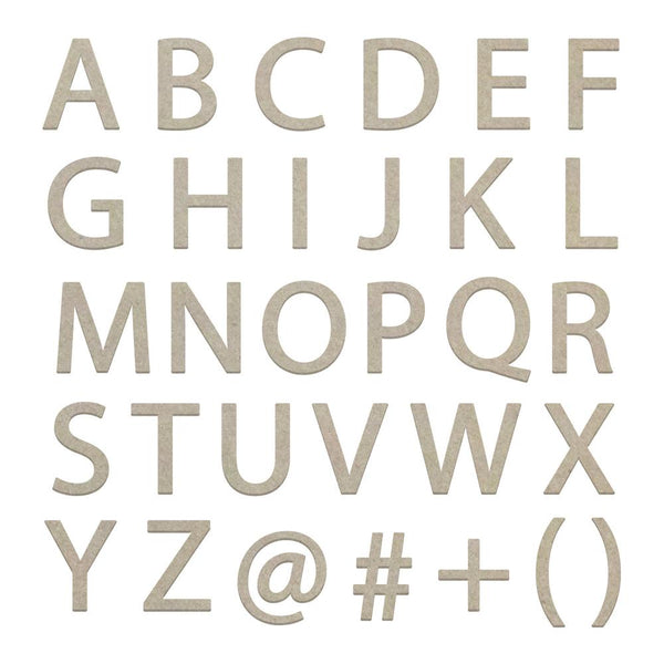 Couture Creations - Large Uppercase Sans Serif Alphas (2 Sheets) (CO726237)